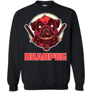 Deadpug Deadpool Pug Sweatshirt amazon best seller