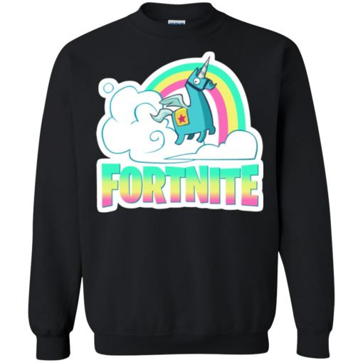 Fortnite Battle Royale Unicorn Rainbow Sweatshirt amazon best seller