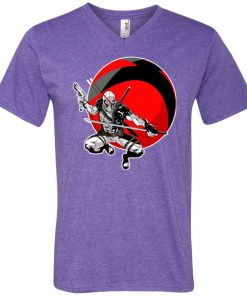 Deadpool Gun And Sword V-Neck T-Shirt