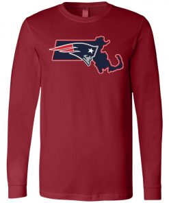 Patriots New England State of Massachusetts Long Sleeve