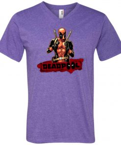Deadpool Cool Guy V-Neck T-Shirt