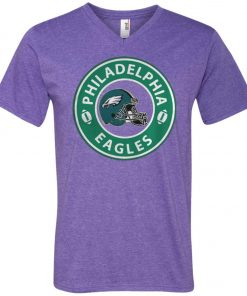 Starbucks Coffee Philadelphia Eagles V-Neck T-Shirt