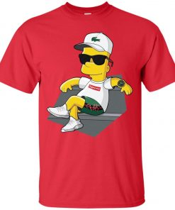 Bart Simpson With Lacoste Hat Yeezy Shoes Gucci Snake Short Classic T-Shirt