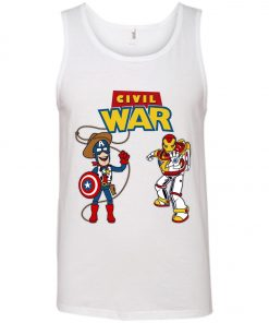 Civil Toy War Toy Story Civil War Captain and Ironman Tank Top
