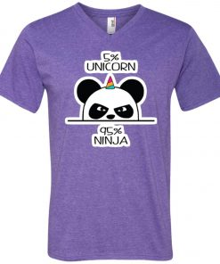 Unicorn Ninja Panda V-Neck T-Shirt
