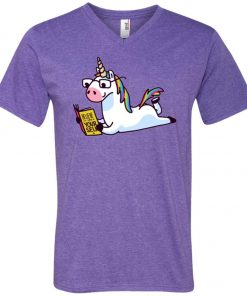 Unicorn Believe in Yourself Magically Fabulous II V-Neck T-Shirt