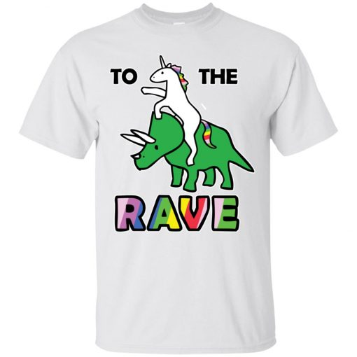 To The Rave Unicorn Riding Triceratops Classic T-Shirt
