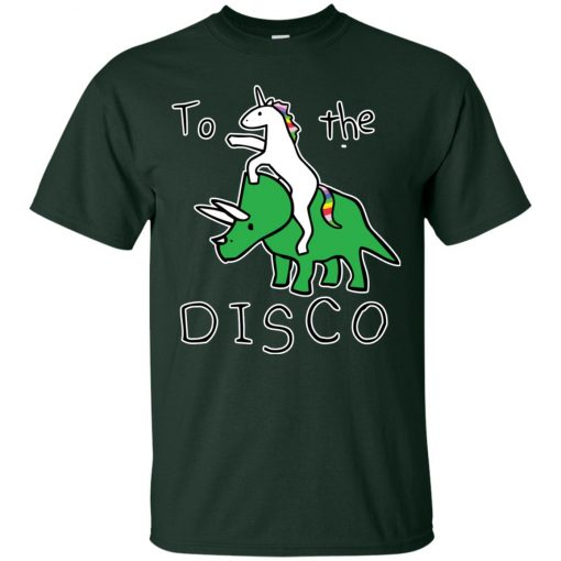 To The Disco Unicorn Riding Triceratops Classic T-Shirt
