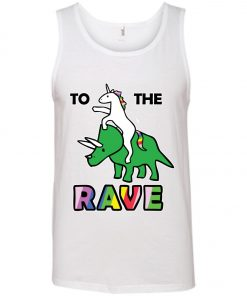 To The Rave Unicorn Riding Triceratops Tank Top