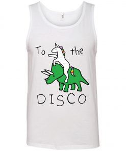 To The Disco Unicorn Riding Triceratops Tank Top