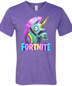 Fortnite Battle Royale Unicorn V-Neck T-Shirt