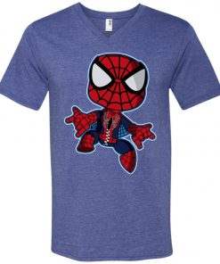 Spiderman Chibi V-Neck T-Shirt