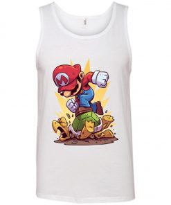Super Mario Jumping Turtle Funny Tank Top