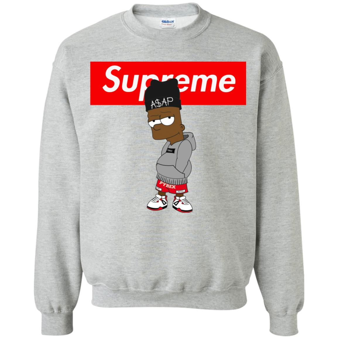 Supreme Bart Simpson ASAP Rocky Sweatshirt - Shop Supreme X The