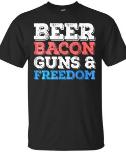 4th of July Beer Bacon Guns And Freedom Classic T-Shirt amazon best seller