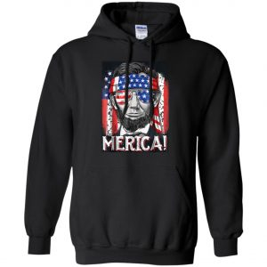 4th of July Lincoln Merica Hoodie amazon best seller
