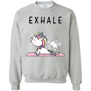 Exhale Unicorn Yoga Fart Sweatshirt amazon best seller