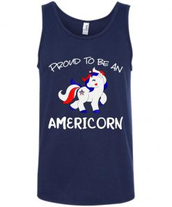 4th of July Proud To Be An Americorn Tank Top