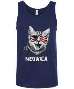 4th of July Meowica Tank Top