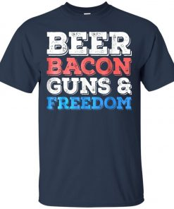 4th of July Beer Bacon Guns And Freedom Classic T-Shirt