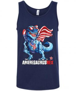 4th of July Amerisaurus T Rex Dinosaur Tank Top