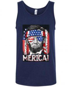 4th of July Lincoln Merica Tank Top