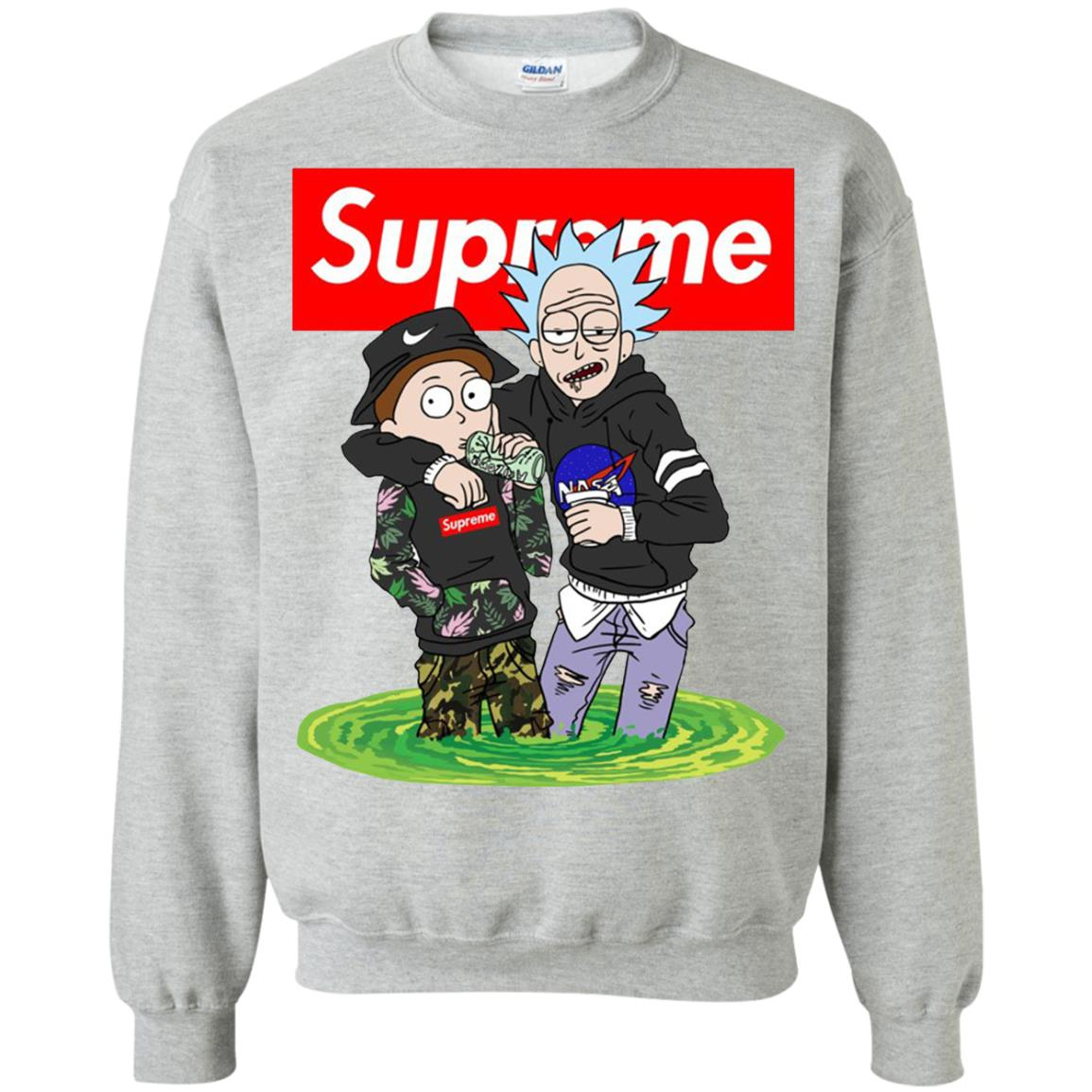 Supreme Rick And Morty Bape Sweatshirt