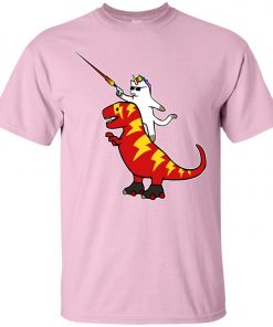 Unicorn Cat Riding Lightning T-Rex Classic T-Shirt