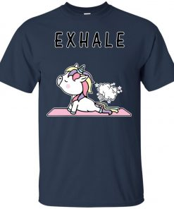 Exhale Unicorn Yoga Fart Classic T-Shirt