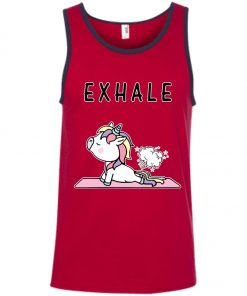 Exhale Unicorn Yoga Fart Tank Top