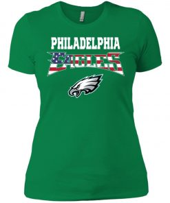 Philadelphia Eagles US Independence Day Flag Women's T-Shirt