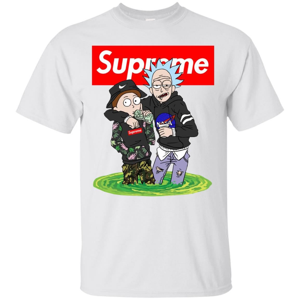 Supreme Rick And Morty Bape Classic T Shirt