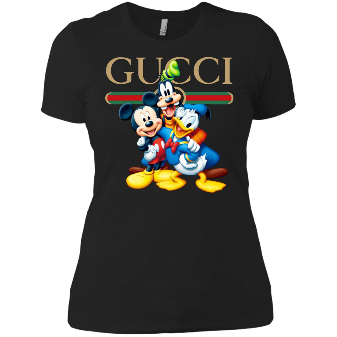 Gucci Gang Disney Mickey Pluto And Donald Women S T Shirt