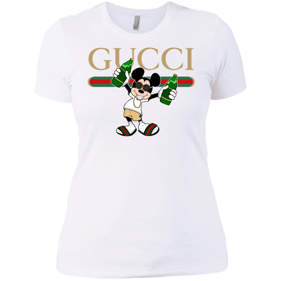 6f240e91d Gucci Stripe Mickey Women's T-Shirt - Shop Gucci x Disney