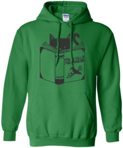 Cat Reading A Book Hoodie