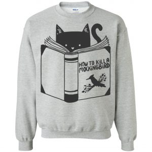 Cat Reading A Book Sweatshirt amazon best seller