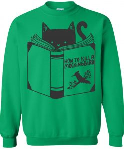 Cat Reading A Book Sweatshirt