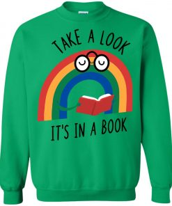 Take A Look Its In A Book Sweatshirt amazon best seller