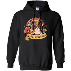 Unicorn Cat I Hate Unicorn Hoodie