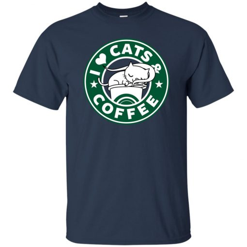 Love Cat And Starbucks Coffee Classic T-Shirt