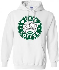 Love Cat And Starbucks Coffee Hoodie
