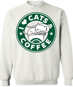 Love Cat And Starbucks Coffee Sweatshirt