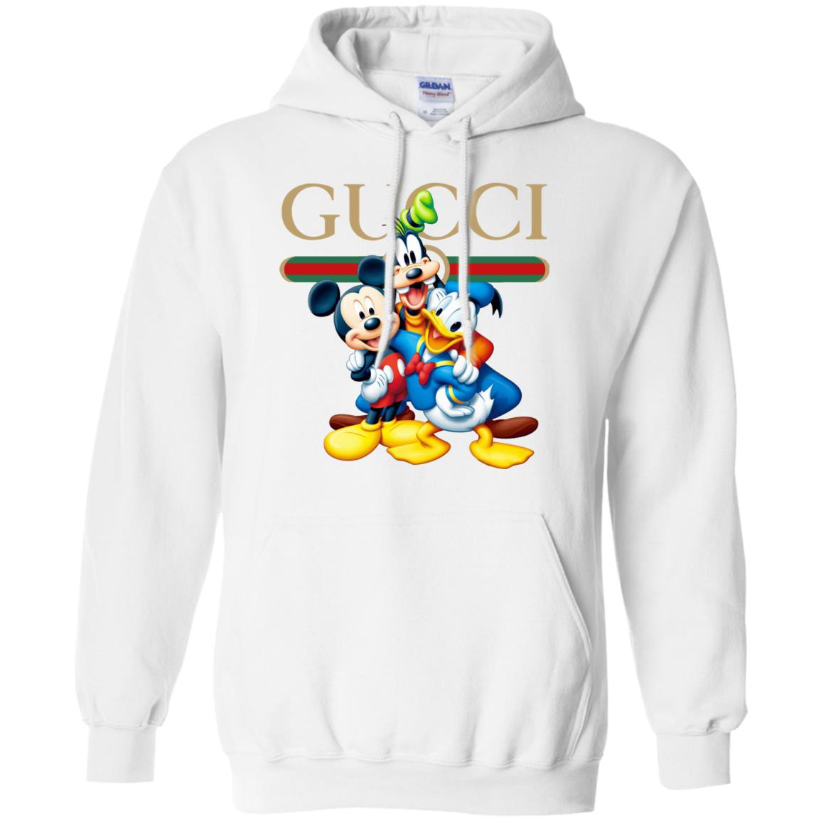 e0c6d9981c2 Gucci Gang Disney Mickey Pluto And Donald Hoodie - Shop Gucci