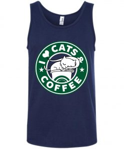 Love Cat And Starbucks Coffee Tank Top
