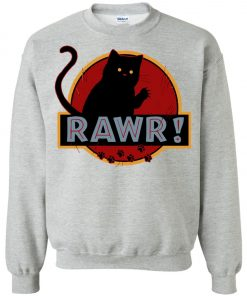 Jurassic Cat Rawr Sweatshirt amazon best seller