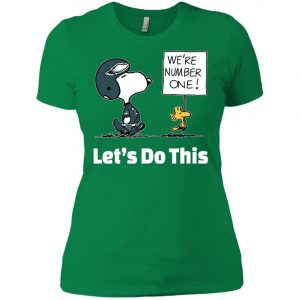 Philadelphia Eagles Snoopy We Are No1 Women's T-Shirt