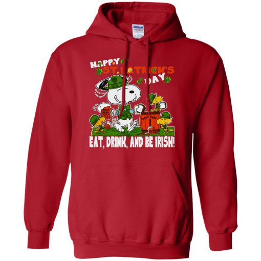 St Patricks Day Snoopy Eat Drink And Be Irish Hoodie Amazon Best Seller