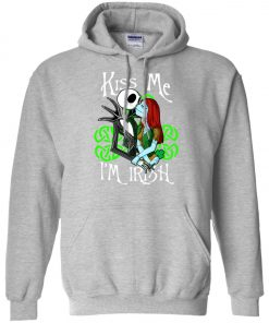 Jack Skellington Nightmare Kiss Me I Am Irish Hoodie Amazon Best Seller