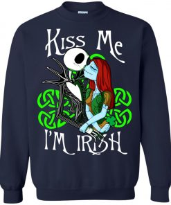 Jack Skellington Nightmare Kiss Me I Am Irish Sweatshirt Amazon Best Seller