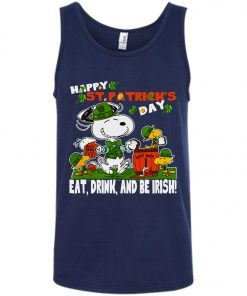 St Patricks Day Snoopy Eat Drink And Be Irish Tank Top Amazon Best Seller